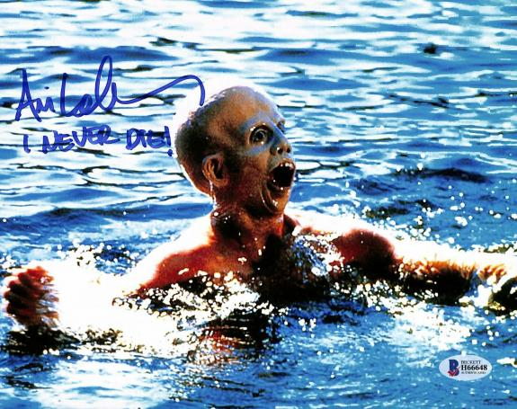 """Ari Lehman Friday The 13th """"I Never Die!"""" Signed 8x10 Photo BAS 5"""