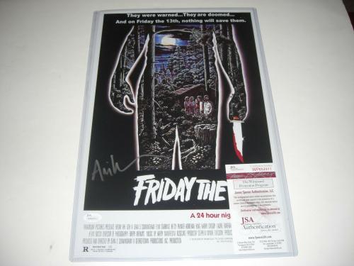 Ari Lehman Friday The 13th Jason 1 Crystal Lake Jsa/coa Signed 11x17 Photo