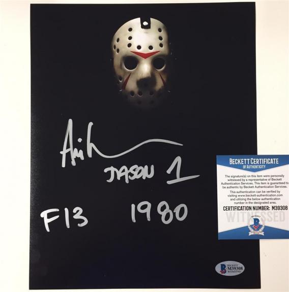 "ARI LEHMAN Friday the 13th ""JASON 1 F13 1980"" signed 8x10 photo ~Beckett BAS COA"