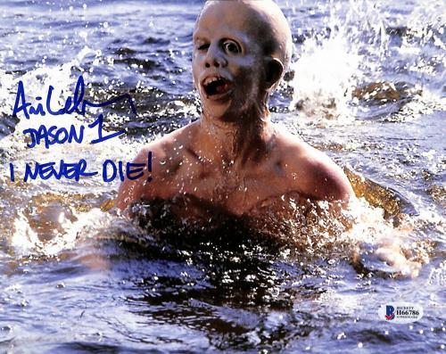"Ari Lehman Friday The 13th ""Jason 1 I Never Die!"" Signed 8x10 Photo BAS 7"