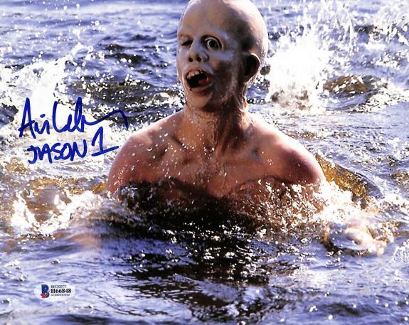 "Ari Lehman Friday The 13th ""Jason 1"" Signed 8x10 Photo BAS 9"