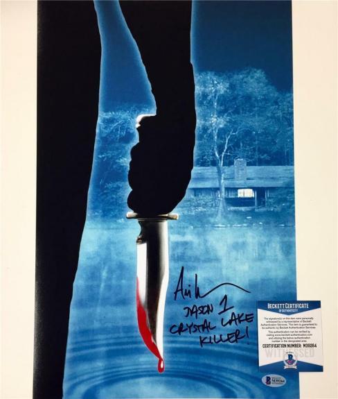 "ARI LEHMAN Friday the 13th JASON ""Crystal Lake Killer""signed 11x17 photo BAS COA"