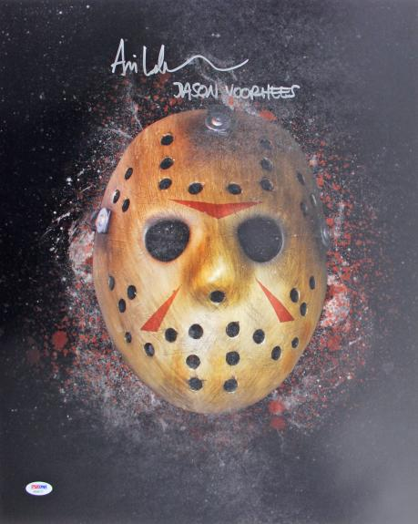 "Ari Lehman Friday The 13th ""Jason Voorhees"" Signed 16x20 Photo PSA/DNA #AB40177"