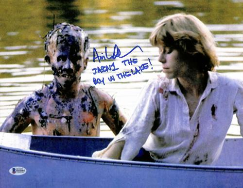 "Ari Lehman Friday The 13th ""The Boy In The Lake"" Signed 11x14 Photo BAS #H66605"