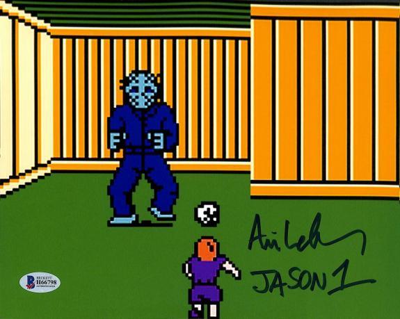 "Ari Lehman Friday The 13th Video Game ""Jason 1"" Signed 8x10 Photo BAS 8"