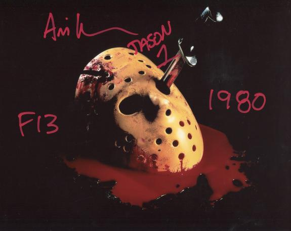 "Ari Lehman ""Jason 1"" ""F13 1980"" Autographed Jason Voorhees Friday the 13th 8x10 Photo"