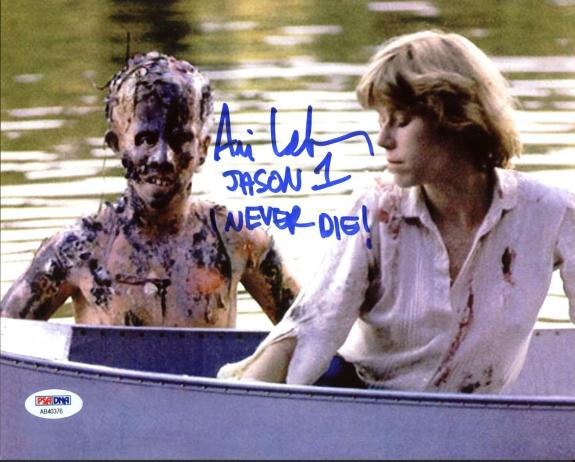 "Ari Lehman ""Jason 1 I Never Die"" Signed Friday The 13th 8X10 Photo PSA/BAS 14"