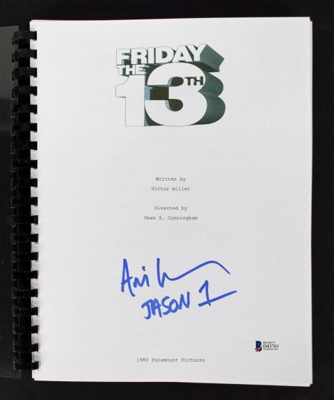 "Ari Lehman ""Jason 1"" Signed Friday The 13th Movie Script BAS 2"