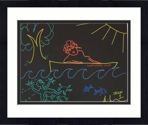 Ari Lehman Jason Friday the 13th Hand Drawn Sketch Signed 16x20 Canvas WP854990