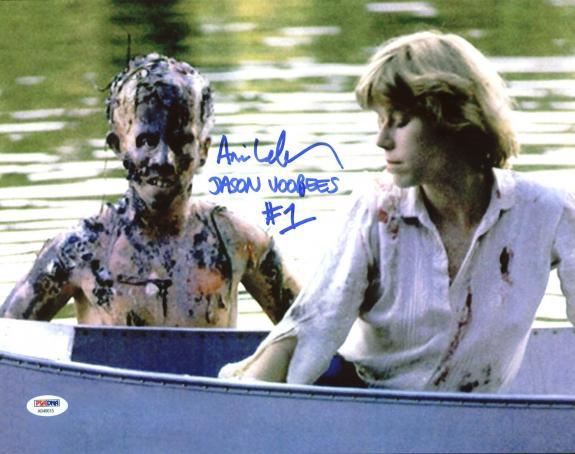"Ari Lehman ""Jason Voorhees #1"" Signed Friday The 13th 11X14 Photo PSA/DNA"