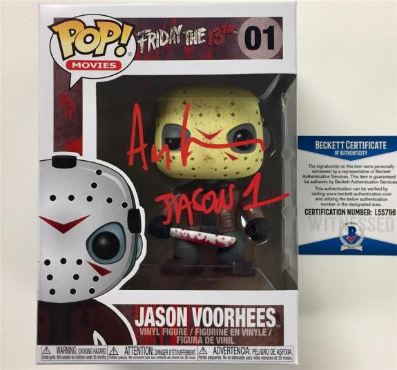 "ARI LEHMAN signed Friday the 13th ""JASON"" Funko POP vinyl ~ BAS COA +photo proof"
