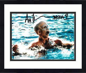 Ari Lehman signed Friday the 13th Jason Voorhees 8x10 Photo w/ Jason 1- Lehman Hologram (in water)