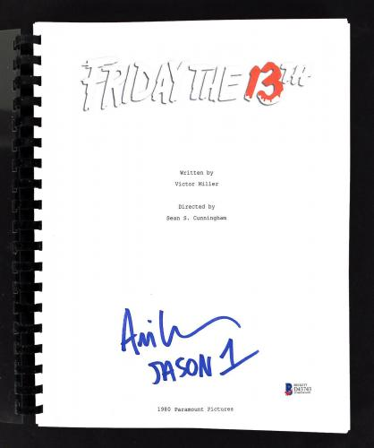 Ari Lehman Signed Friday The 13th Movie Script Autographed BAS 3