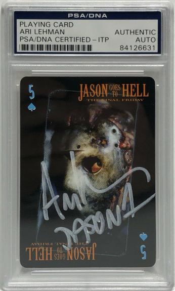 Ari Lehman Signed Friday The 13th Playing Card *Jason Voorhees PSA 84126631