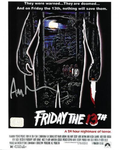 Ari Lehman signed Friday the 13th Poster Jason Voorhees 8x10 Photo- Lehman Hologram