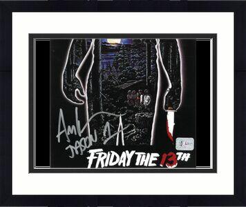 Ari Lehman signed Friday the 13th Poster Jason Voorhees 8x10 Photo w/ Jason 1- Lehman Hologram