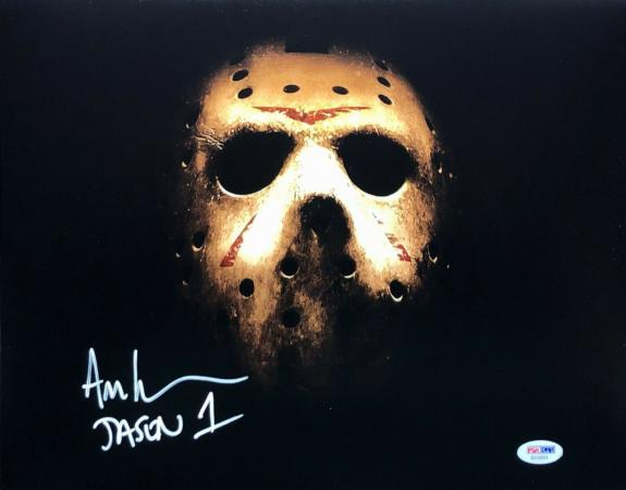 "Ari Lehman Signed Jason Voorhees:Friday The 13th 11x14 Photo ""Jason 1"" PSA 44894"