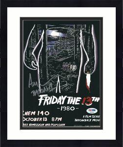 "Ari Lehman Signed Jason Voorhees:Friday The 13th 8x10 Photo ""Jason 1"" PSA 44934"