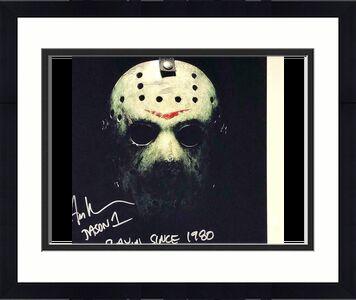 "Ari Lehman ""Slayin since 1980"" Jason signed Friday the 13th 11x14 photo BAS COA"