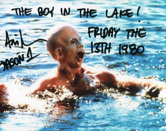 "Ari Lehman ""The Boy in the Lake"" ""Friday the 13th"" Autographed Jason Voorhees 8x10 Photo"