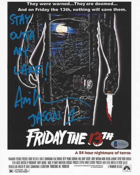 """ARI LEHMAN the FIRST JASON VOORHEES as a CHILD in the Film """"FRIDAY the 13TH"""" (BECKETT) Signed 8x10 Color Photo"""