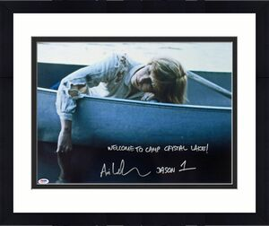 """Ari Lehman """"Welcome To Camp Crystal Lake"""" Signed Friday The 13th 16X20 Photo PSA"""