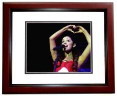 Ariana Grande Signed - Autographed Concert 11x14 inch Photo MAHOGANY CUSTOM FRAME - Guaranteed to pass PSA or JSA - Victorious Actress