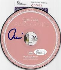 Ariana Grande autographed *Yours Truly* pink CD JSA Authenticated Q30613