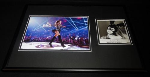 Ariana Grande Framed 12x18 Dangerous Woman CD & Photo Display
