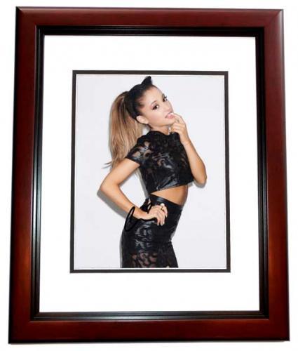 Ariana Grande Signed - Autographed Sexy Singer - Actress 8x10 inch Photo MAHOGANY CUSTOM FRAME - Guaranteed to pass PSA or JSA
