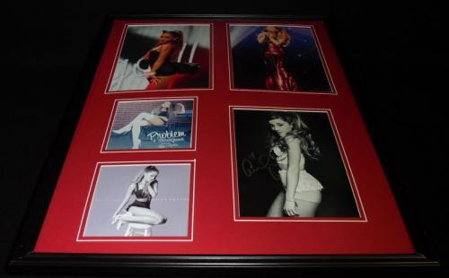 Ariana Grande Signed Framed 18x24 Photo Set
