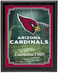 "Arizona Cardinals Team Logo Sublimated 10.5"" x 13"" Plaque - Mounted Memories"