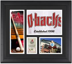 Arizona Diamondbacks Team Logo Framed 15'' x 17'' Collage with Piece of Game-Used Ball - Mounted Memories