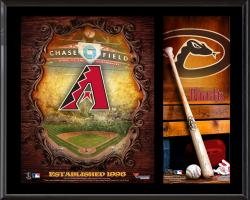 "Arizona Diamondbacks Sublimated 12"" x 15"" Team Logo Plaque"