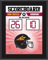 "Arizona State Sun Devils 2014 Win Over Stanford Cardinal Sublimated 10.5"" x 13"" Scoreboard Plaque"