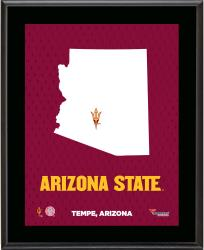 ARIZONA STATE SUN DEVILS (STATE) 10x13 PLAQUE (SUBL) - Mounted Memories