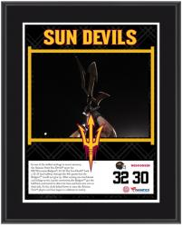 "Arizona State Sun Devils Win Over Wisconsin Badgers Sublimated 10.5"" x 13"" Plaque"