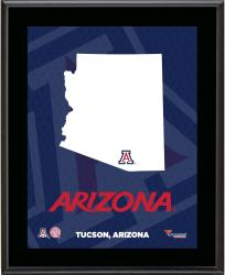 "Arizona Wildcats Sublimated 10.5"" x 13"" State Plaque"
