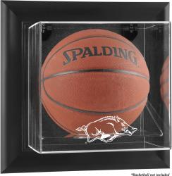 Arkansas Razorbacks Black Framed Wall-Mountable Basketball Display Case