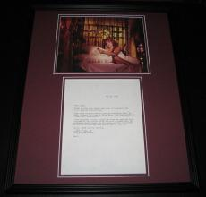 Arlene Golonka SEXY Signed Framed 1984 Letter & Photo Display Mayberry RFD