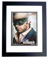 Armie Hammer Signed - Autographed THE LONE RANGER 8x10 inch Photo BLACK CUSTOM FRAME - Guaranteed to pass PSA or JSA