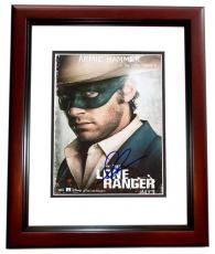 Armie Hammer Signed - Autographed THE LONE RANGER 8x10 inch Photo MAHOGANY CUSTOM FRAME - Guaranteed to pass PSA or JSA