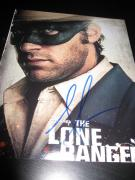 ARMIE HAMMER SIGNED AUTOGRAPH 8x10 PHOTO THE LONE RANGER DEPP IN PERSON COA C