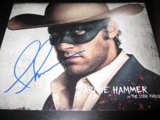 ARMIE HAMMER SIGNED AUTOGRAPH 8x10 PHOTO THE LONE RANGER DEPP IN PERSON COA D