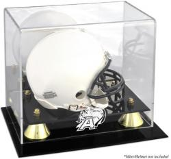 Army Black Knights Golden Classic Logo Mini Helmet Display Case