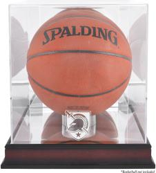 Army Black Knights Mahogany Antique Finish (2015-Present Logo) Basketball Display Case with Mirror Back