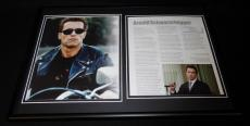 Arnold Schwarzegger Framed 12x18 Photo Display Terminator Conan