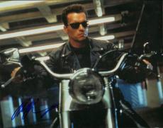 Arnold Schwarzenegger Autographed 11x14 Terminator Photo AFTAL