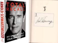 Arnold Schwarzenegger Autographed Total Recall Signed Book AFTAL