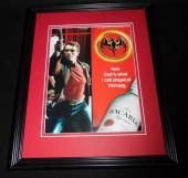 Arnold Schwarzenegger 2001 Bacardi Rum Framed 11x14 ORIGINAL Advertisement B